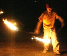 A chat with Angus -- I didn't know he did fire poi!